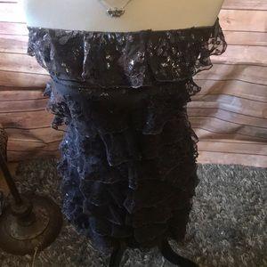 Dresses & Skirts - Express Grey Lace dress
